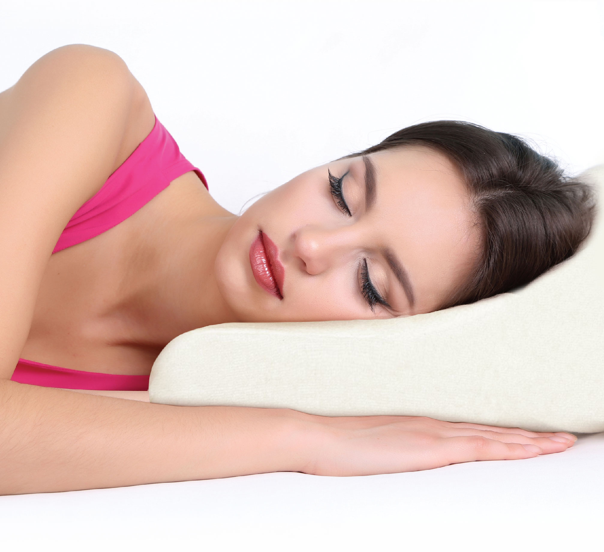 orthopedic pillow with recess for the shoulder ti140